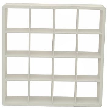 Phoenix Group 118801WE Prana Highgloss Furniture Bookshelf, Roomdivider,  Shelf