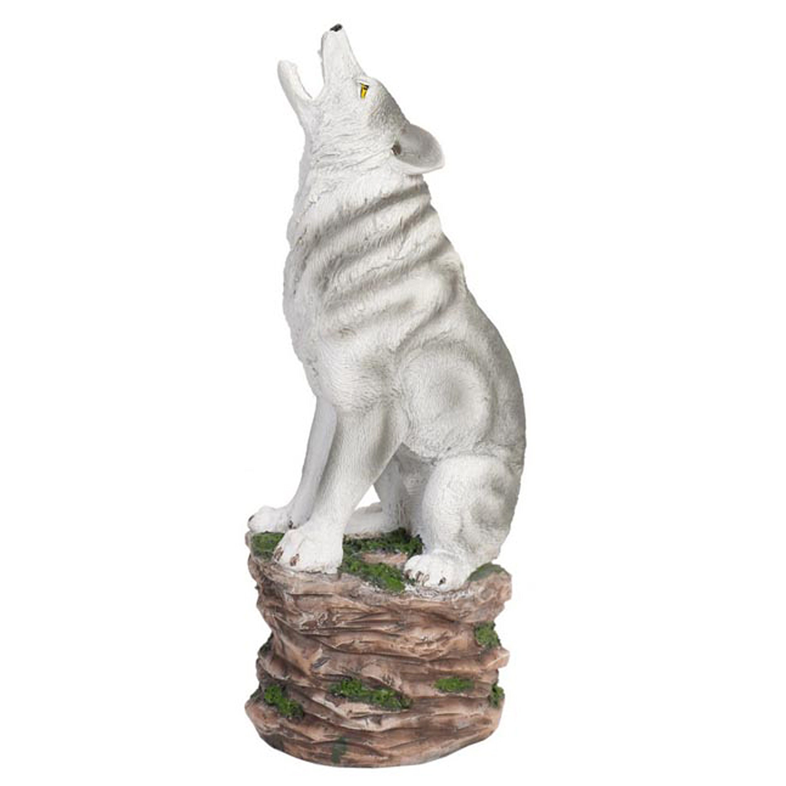 Hosley 12'' High Resin Wolf Incense Burner. Ideal for Spa and Aromatherapy, Suggested for use Brand Essential Oils and Fragrance Oils. P1