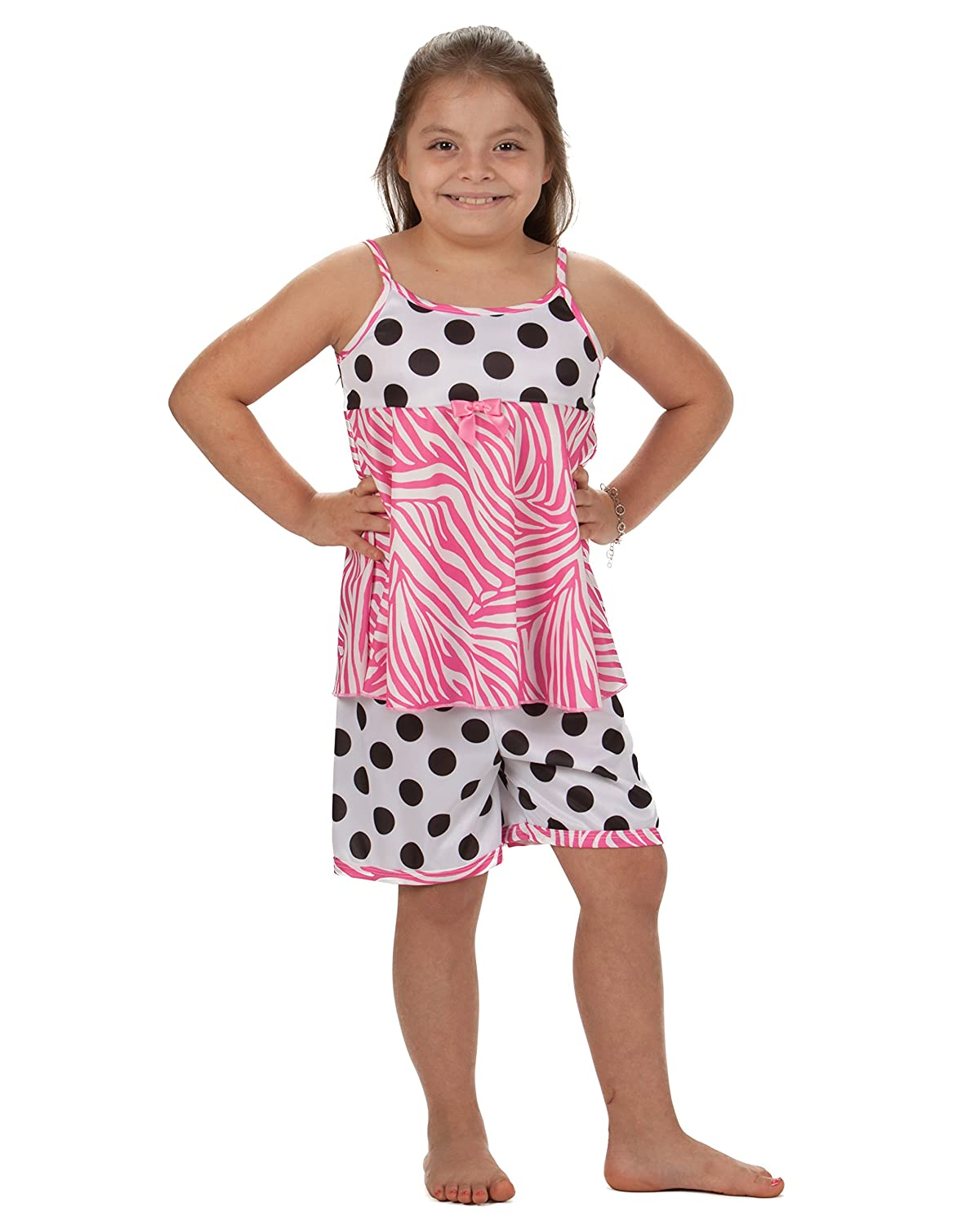 Laura Dare Little Girls Connect The Dots Strappy PJ Short Set