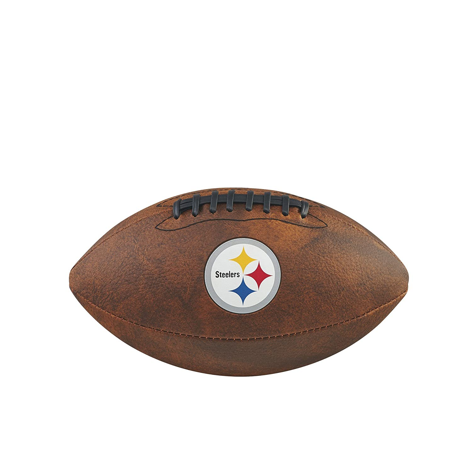 Game Master NFL Pittsburgh Steelers Junior Wilson Throwback Football, 11-Inch, Brown