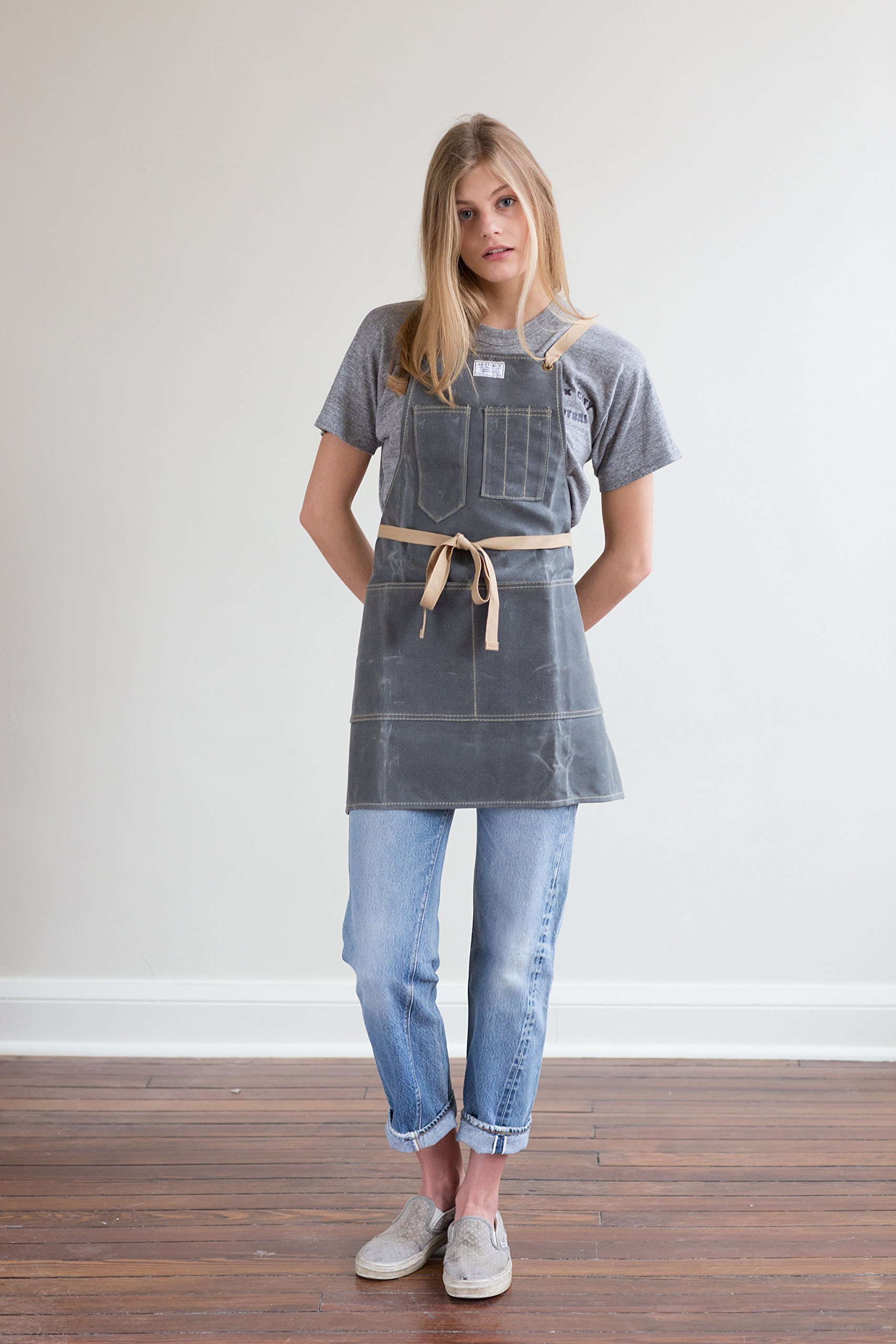 No.325T Artisan Apron in Waxed Canvas - Made in USA by ARTIFACT