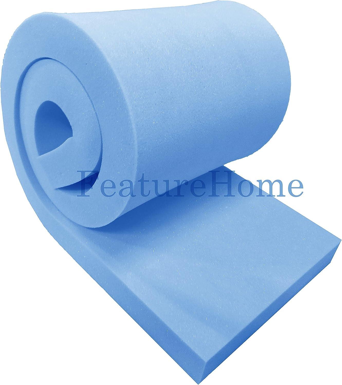 L // 1.52m x 20 Blue Upholstery Foam Sheet High Density 60 L // 152cm W D x 4 x 0.50m W W x 50cm L