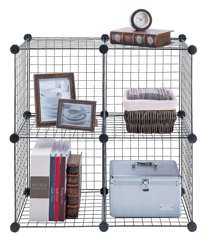Amazon.com: Organize It All Wire Cube, Black: Home & Kitchen