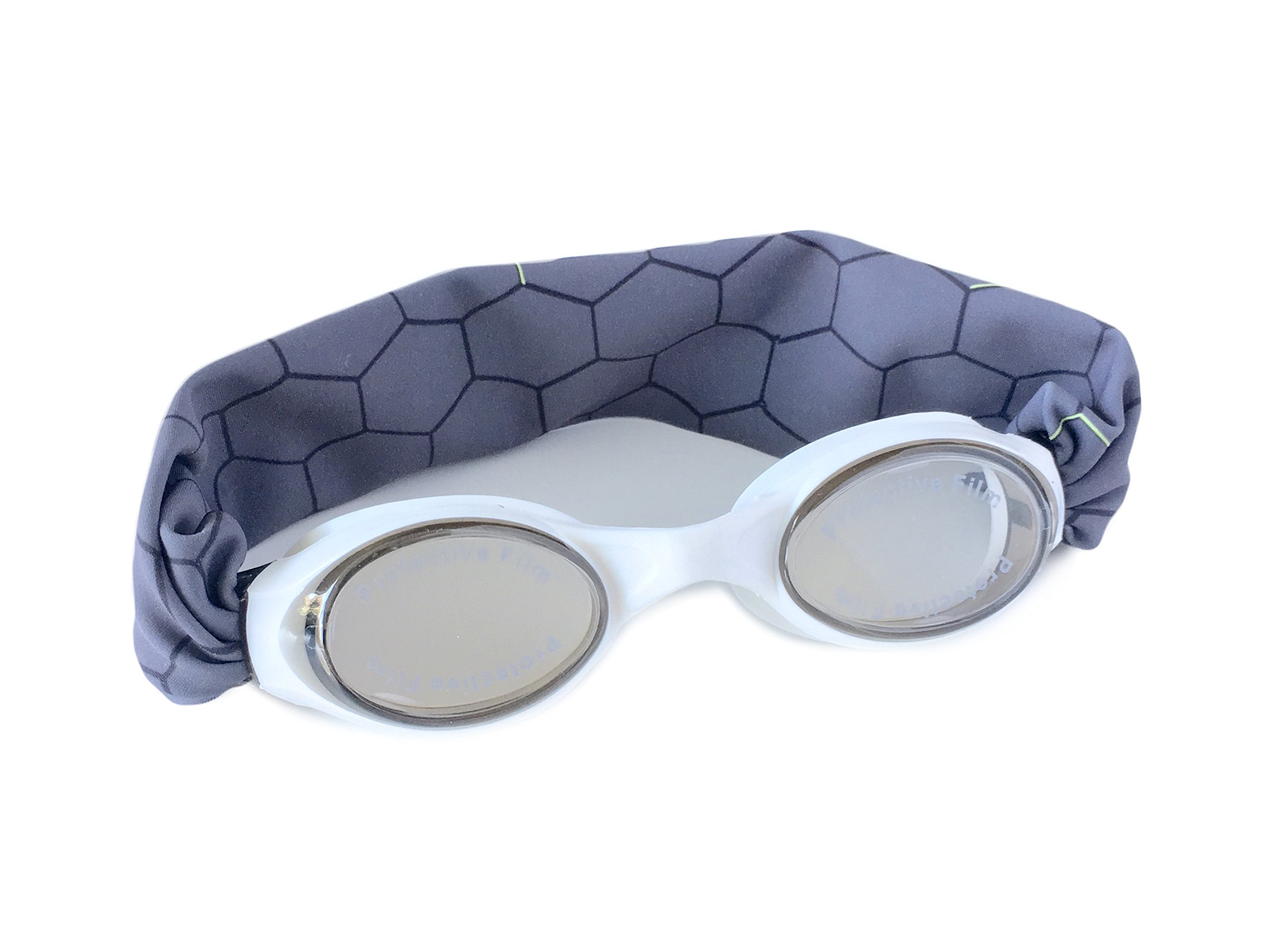 SPLASH''STEEL MATRIX'' Swim Goggles - Comfortable, Fashionable, Fun - Fits Kids & Adults - Won't Pull Your Hair - Easy to Use - High Visibility Anti-Fog Lenses - PATENT PENDING