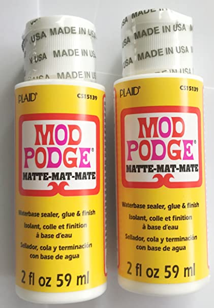 Amazon com: Mod Podge Waterbase Sealer Glue & Finish Matte 2 -Pack 2