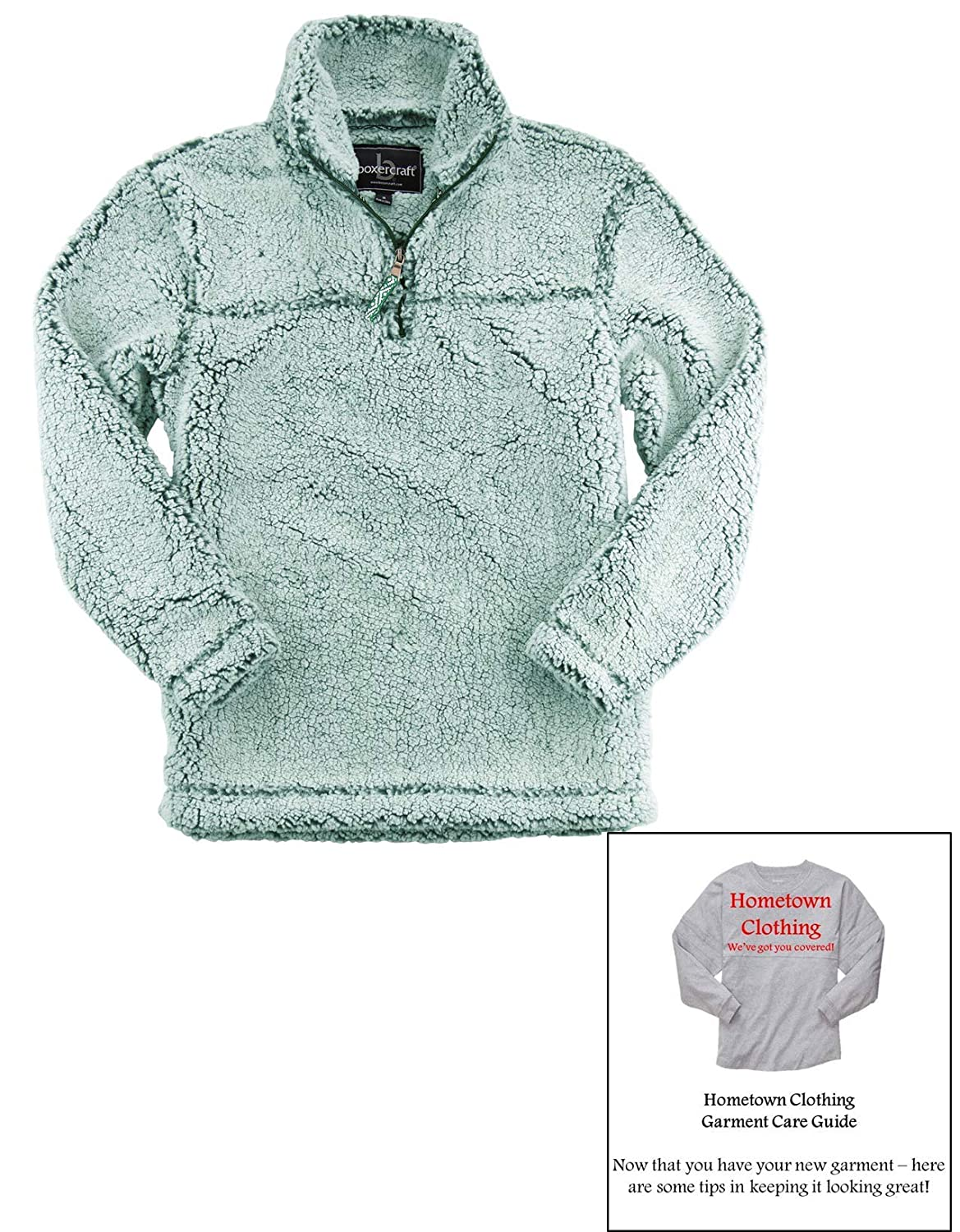 Boxercraft Sherpa Zip Pullover /& HTC Garment Guide Adult Sizes