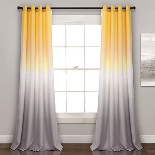 Lush Decor Ombre Fiesta Curtains Room Darkening Window Panel Set