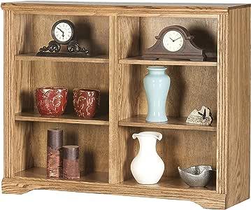 "Eagle Oak Ridge Double Wide Bookcase, 36"" Tall, Dark Oak Finish"