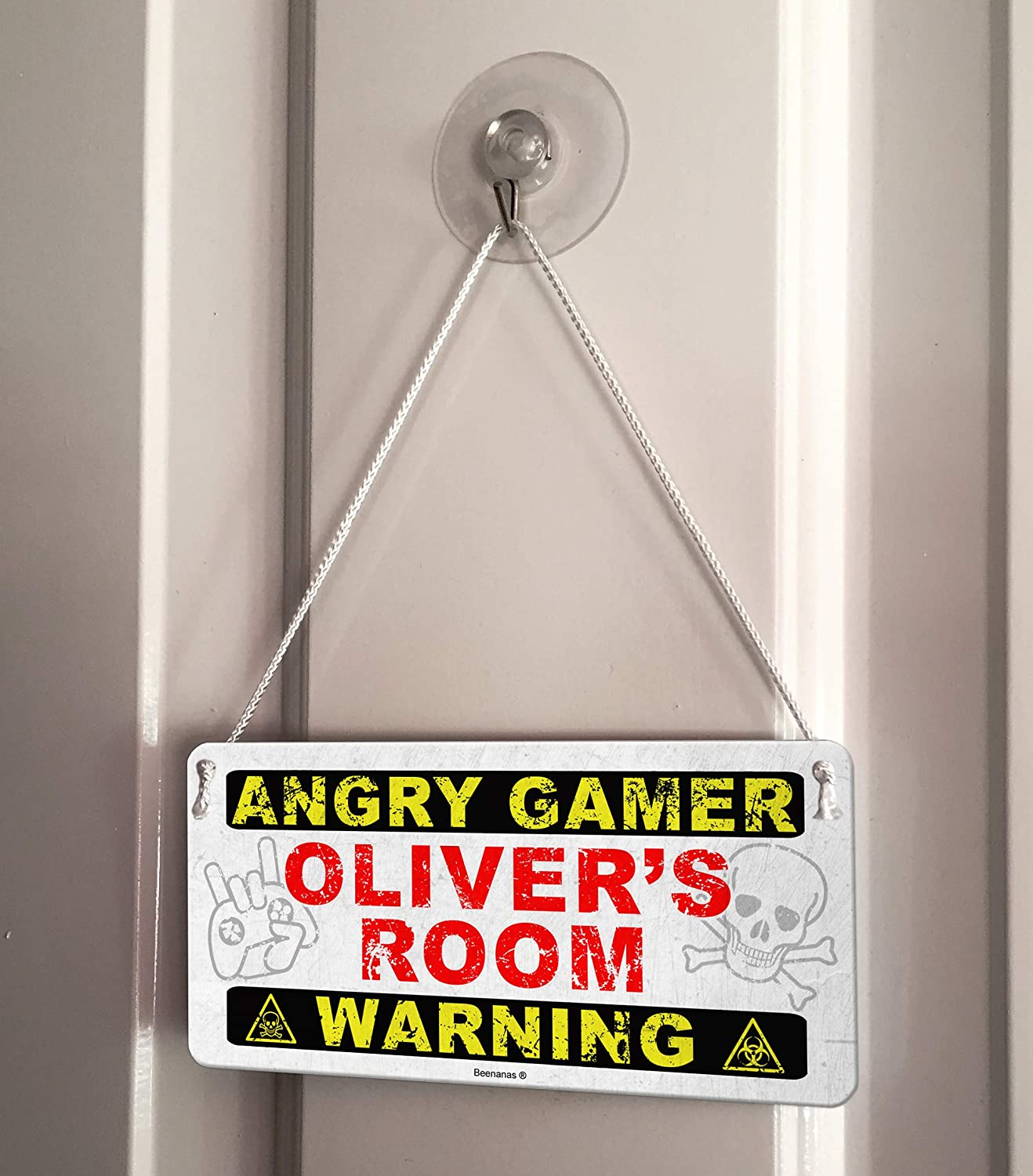 Groovy Amazon Com Angry Gamer Personalised Childs Bedroom Door Home Interior And Landscaping Oversignezvosmurscom