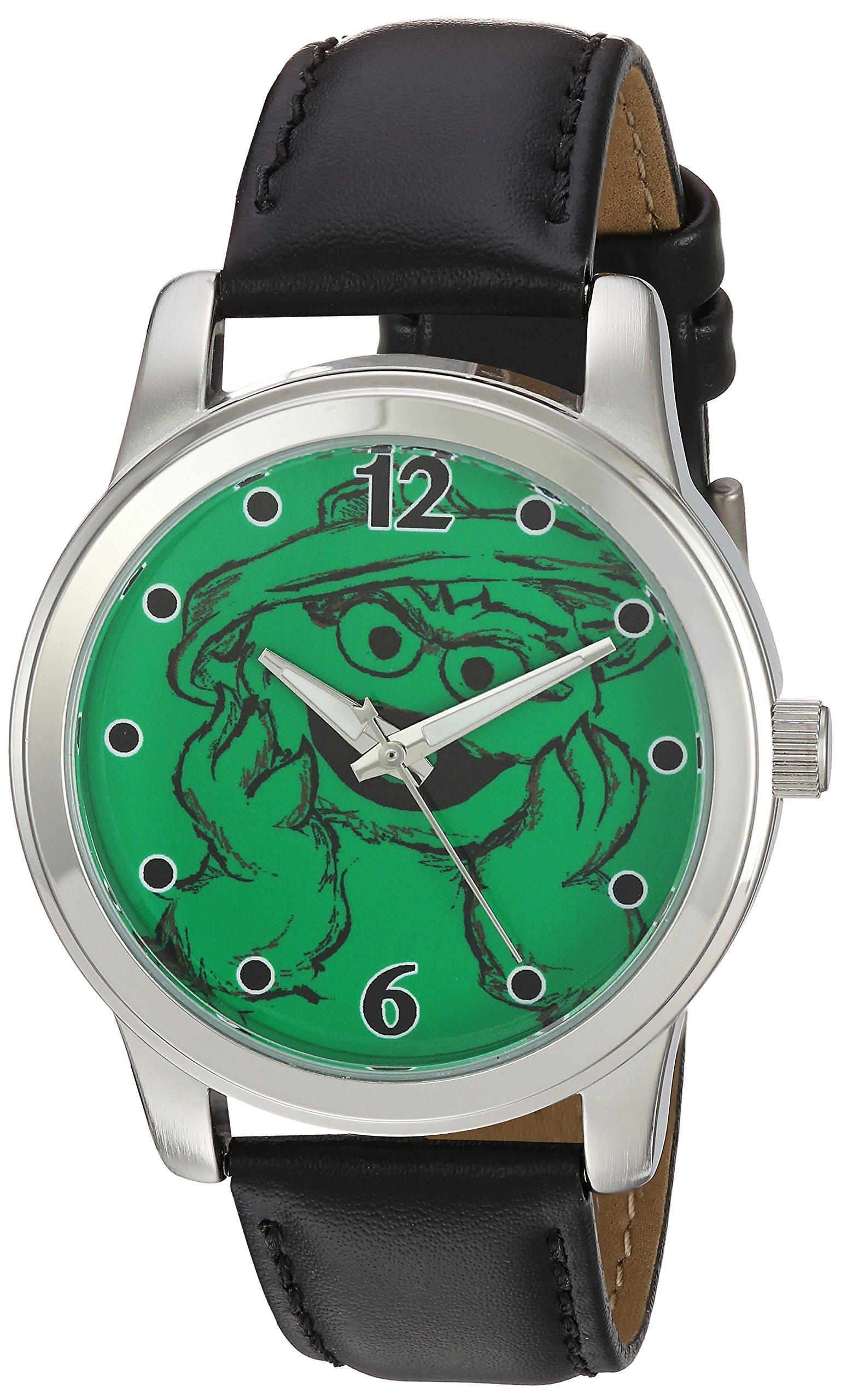 eWatchFactory 'Sesame Street' Quartz Metal Casual Watch, Color:Black (Model: WSS000024)