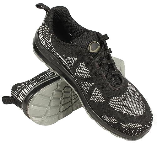 Fast Low S1® - Zapatillas de Deporte de Seguridad para Trabajo - Puntera de Acero - Negro: Amazon.es: Zapatos y complementos