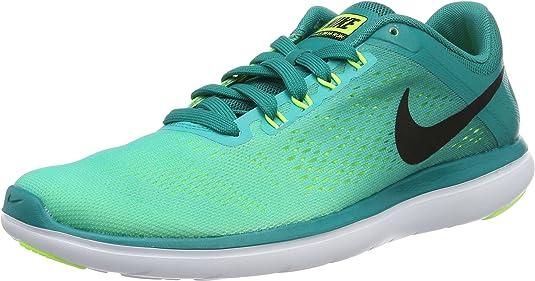 Nike Flex 2016 RN, Zapatillas de Running para Hombre, Verde (Rio Teal/Black-Clear Jade-Volt), 39 EU: Amazon.es: Zapatos y complementos