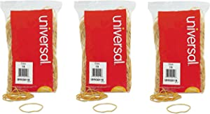 Universal 00119 Rubber Bands, Size 19, 3-1/2 x 1/16, 1lb Pack, 3 Pack