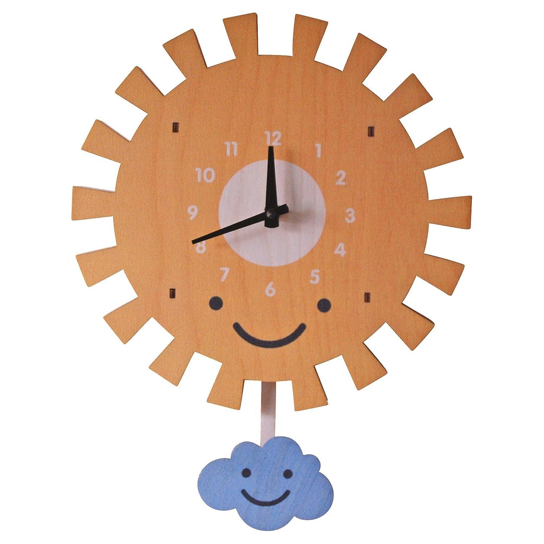 modern moose(モダン ムース) 3D ウォール クロック 壁掛け時計 手作り 振り子 太陽 PCPEN033 B01DP5RRNO