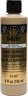 product image for FolkArt Multi Surface Specialty Effect Paint in Assorted Colors (8 oz), Metallic 14K Gold