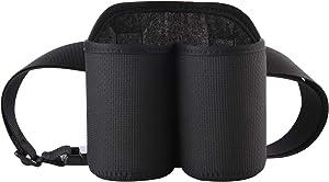 CM 2-Bottles Beer Belt Strap Can Holder Soda Beverage Holder with Buckle for BBQ Party Camping Beer Can