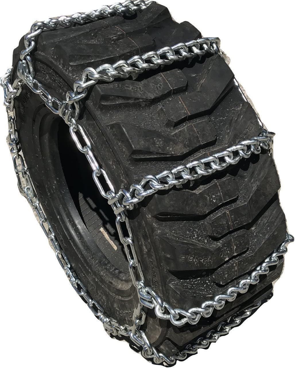 TireChain.com 12 16.5 12-16.5 Ladder Tractor Tire Chains Set of 2, 822
