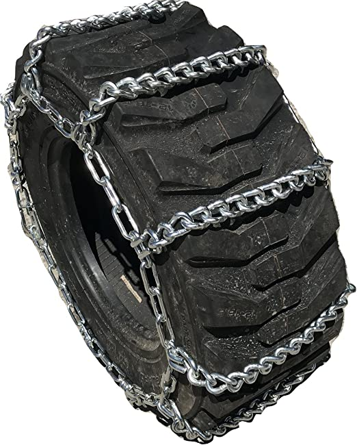 13.6 24 Duo Grip Tractor Tire Chains w//Spring Tensioners TireChain.com 13.6-24