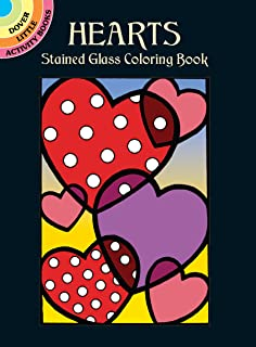Hearts Stained Glass Coloring Book Dover