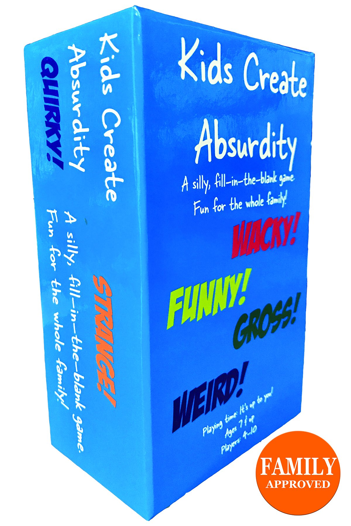 Kids Create Absurdity-A Silly Fun Family Card Game- Laugh Giggle Card Game For Kids, Adults, Teens, Tweens Partys- Family Pack of 465 Quality Playing Cards.