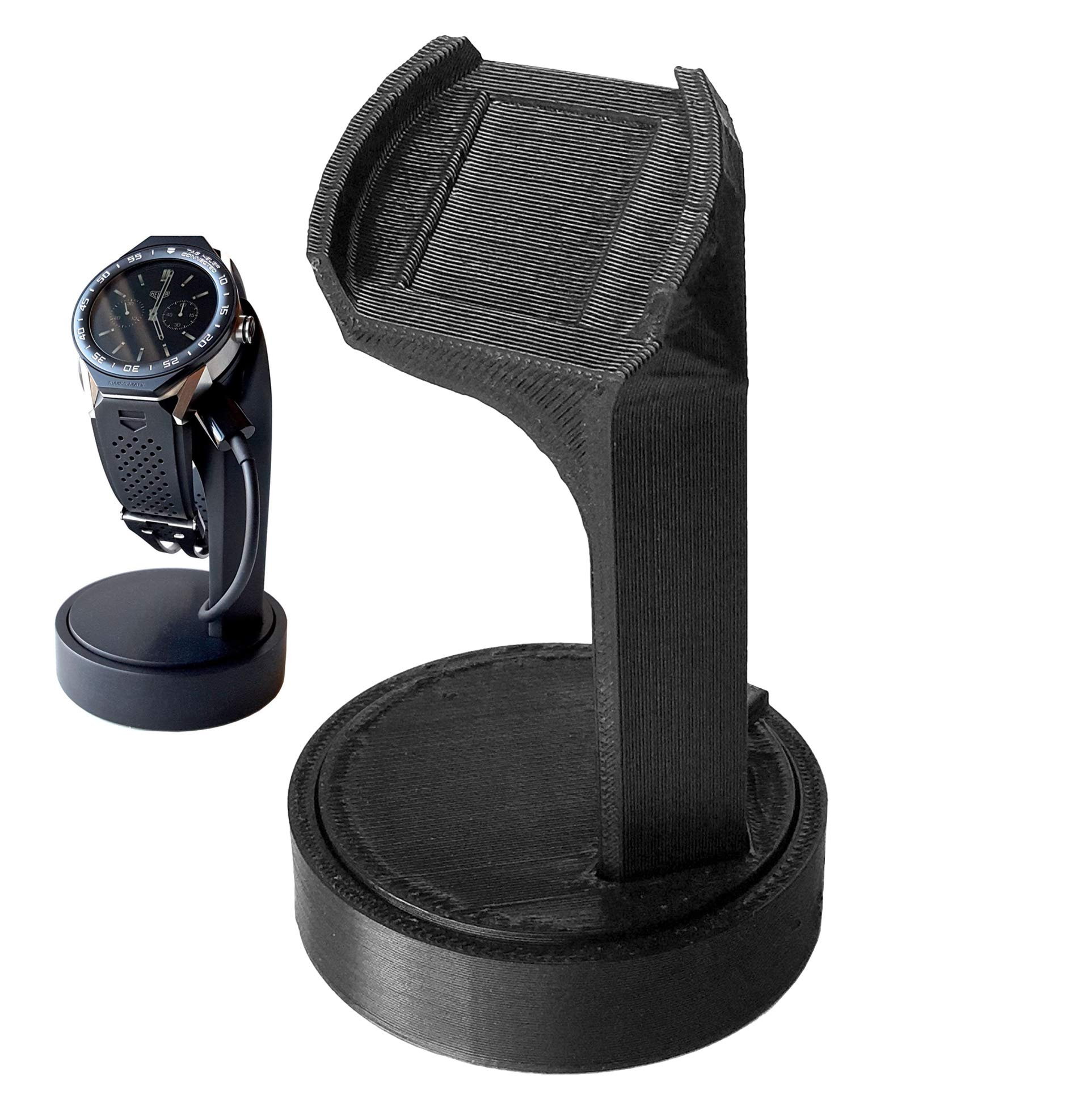 Zweisimmen Hammermill Vintage Co. 2nd Generation TAG Heuer Connected Modular 45 Smart Watch Charging Stand for OEM Charger (3D Printed Version)