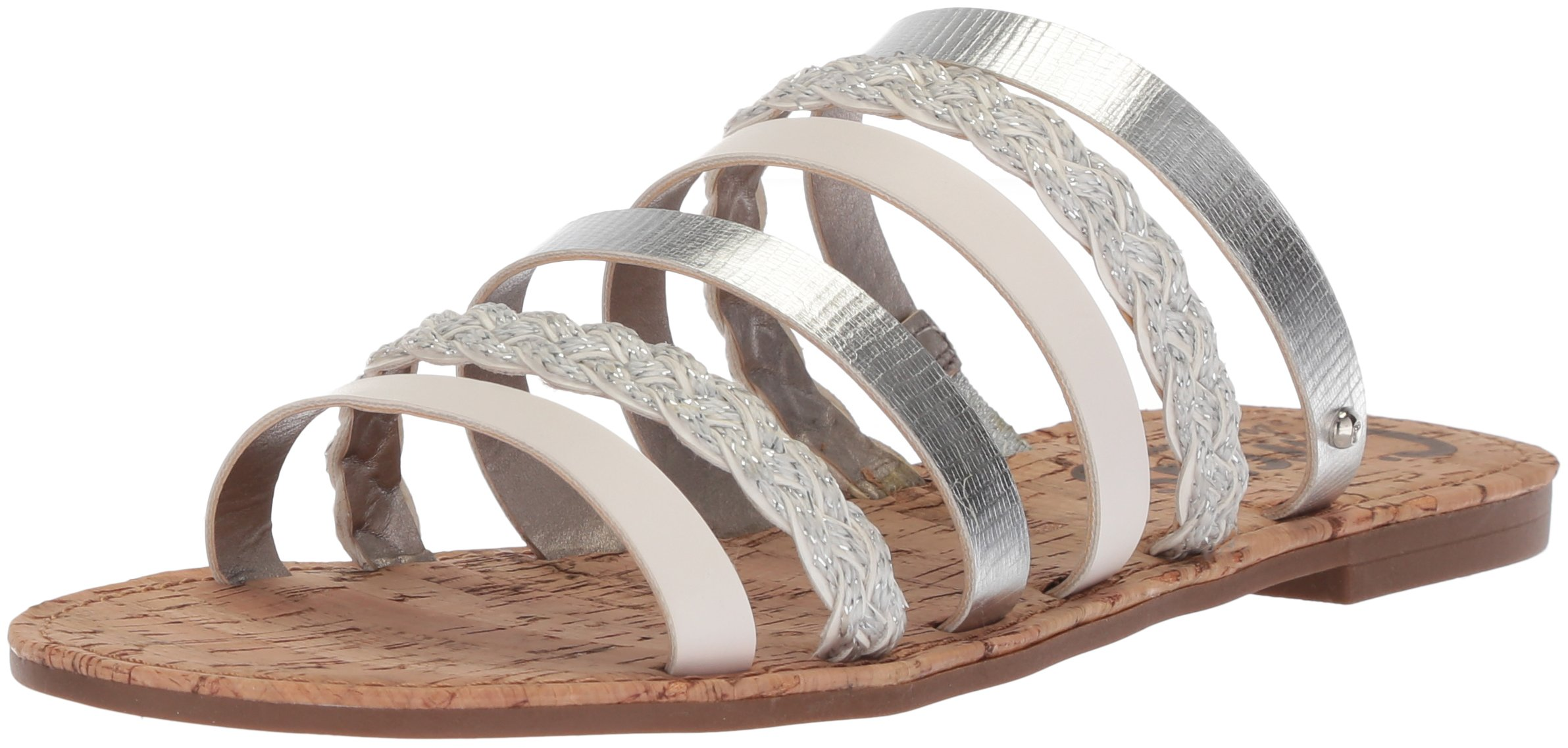 Circus by Sam Edelman Women's Braiden Slide Sandal, Soft Silver/Bright White, 7 M US