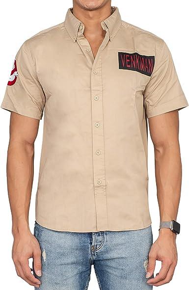 Camisa de disfraz de los Cazafantasmas Venkman con botones: Amazon.es: Ropa y accesorios