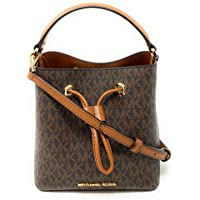 Michael Kors Suri Small Bucket Shoulder Bag (Brown PVC)
