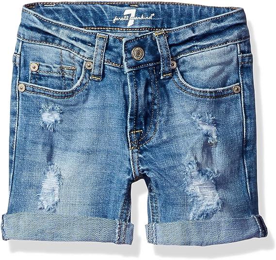 7 For All Mankind Girls Little Stretch Denim Mini Skirt