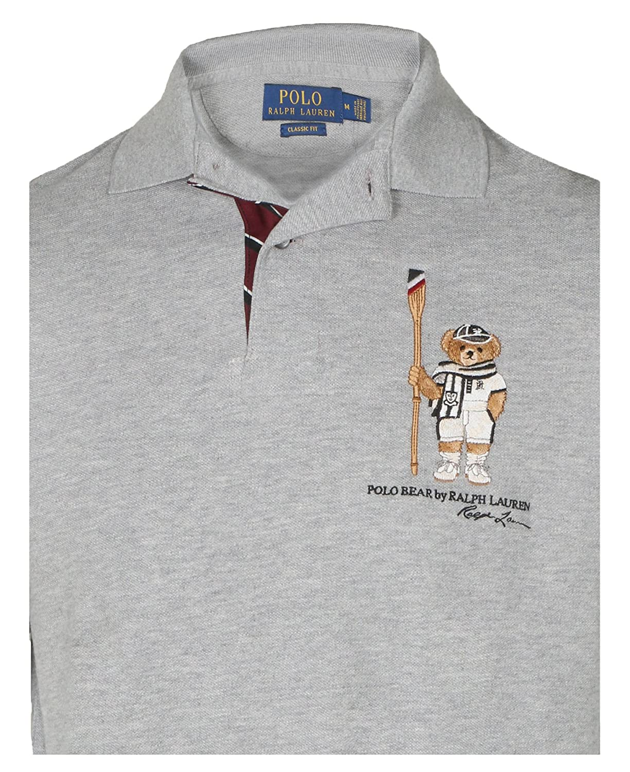 cf65595da Polo Ralph Lauren Men's's Limited Polo Bear Polo Shirt-HtrGrey/Boathouse at  Amazon Men's Clothing store: