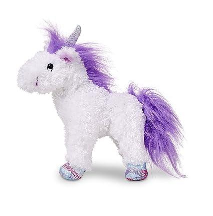 Amazon Com Melissa Doug Misty Unicorn Stuffed Animal Melissa