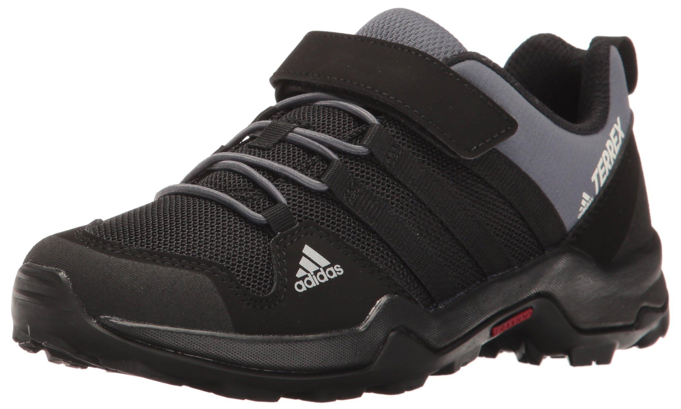 adidas outdoor Terrex AX2R CF Hiking Boot, Black/Onix, 4 Child US Big Kid