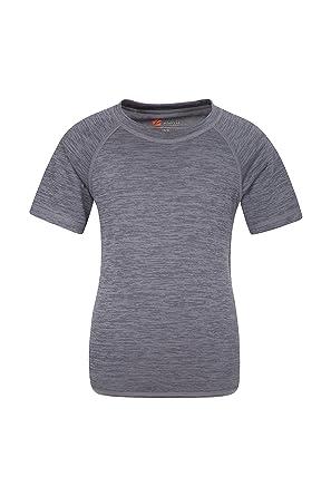 058cfa3800ed6 Zakti Tee-Shirt Enfant uni - T-Shirt léger d'été, T-Shirt à Manches ...