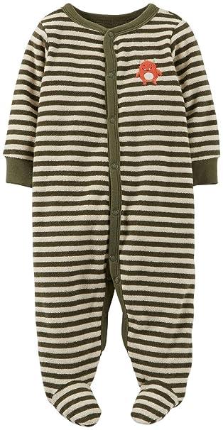 b0c5ba86d874 Amazon.com  Carter s Baby Boys  Striped Terry Footie (Baby)  Clothing