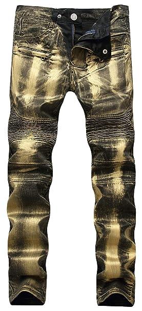 Amazon.com: Chartou - Pantalones vaqueros para hombre ...