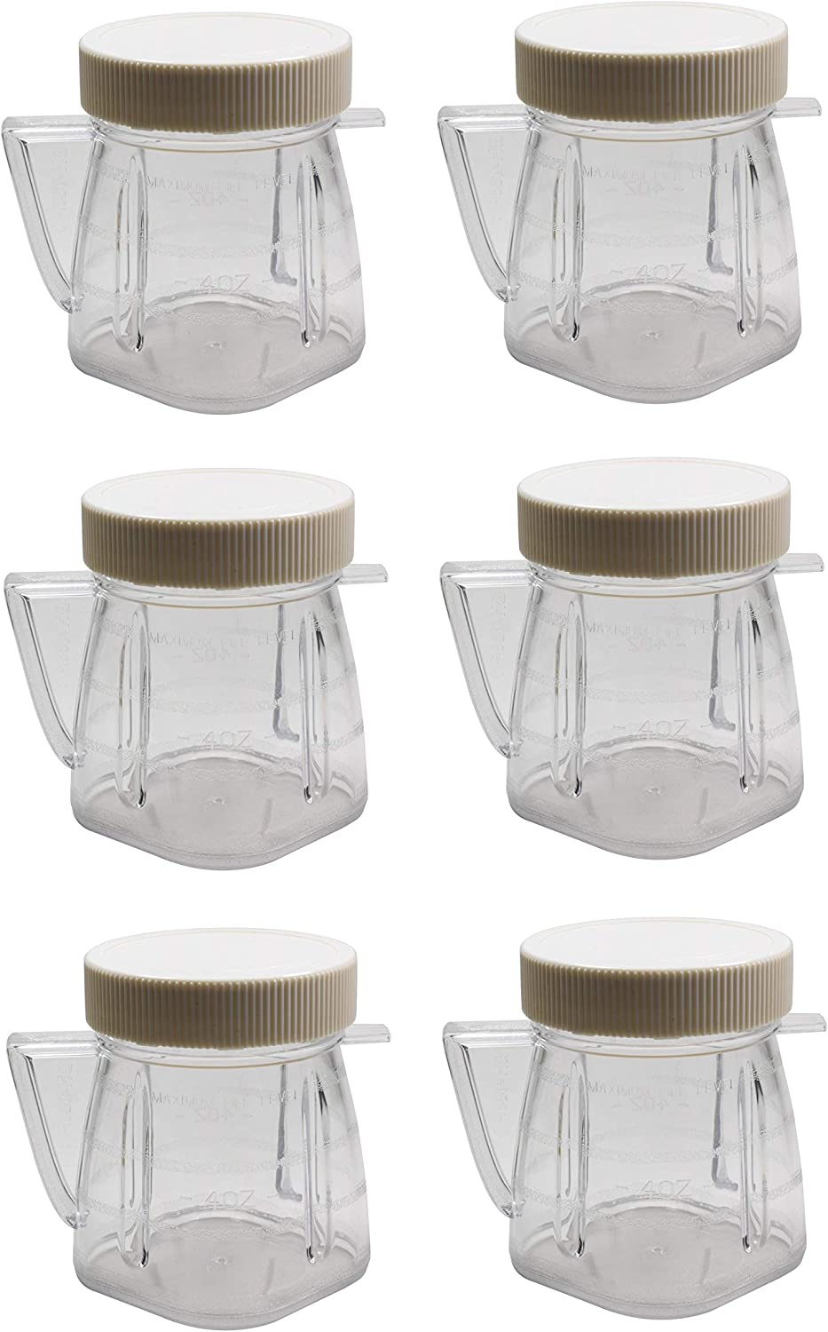 Univen 8 Oz Mini Blender Jar With Sealed Lid for Oster & Osterizer Blenders 6 Pack