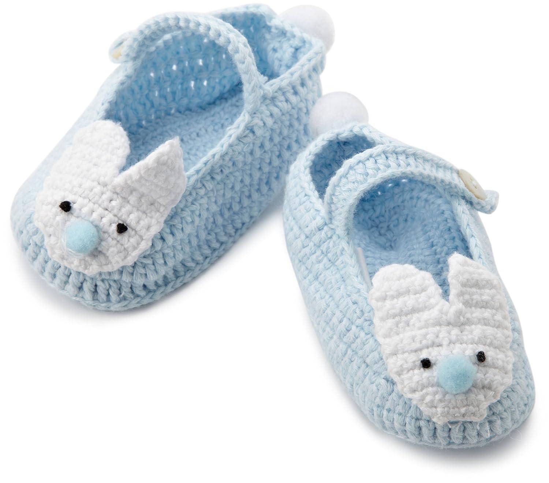 Amazon Mud Pie Baby boys Newborn Blue Crochet Bunny Booties