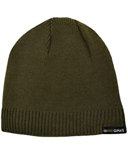 Proclimate Unisex Waterproof & Windproof Thinsulate Beanie Hat - Olive (L/XL)