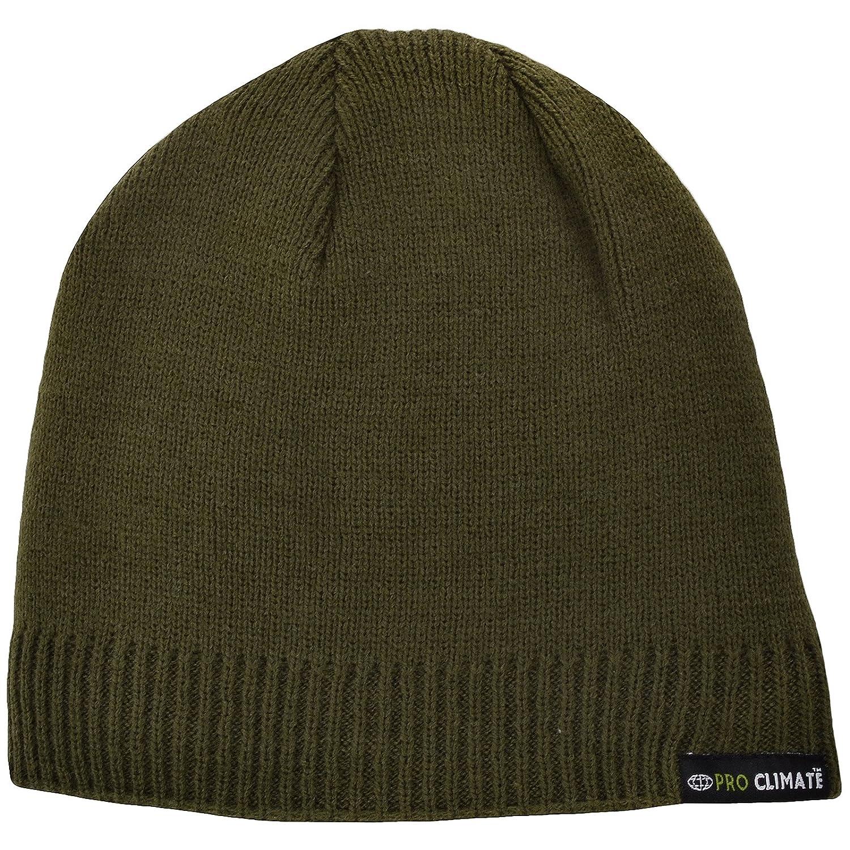 1f372b45fc8 Proclimate Unisex Waterproof and Windproof Thinsulate Beanie Hat - Black   Amazon.co.uk  Clothing