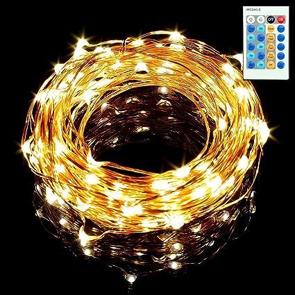 Amazon.com: Sungluber - Juego de 100 luces LED de hada, luz ...