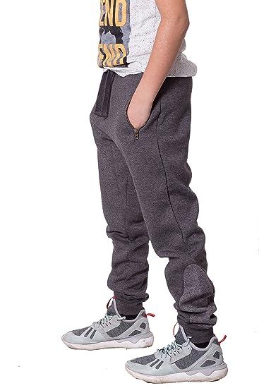 0861a202e66027 Jungen Kinder Knöchel Kontrast Streifen Vlies Hose Trainingshose jogginghose   Amazon.de  Bekleidung