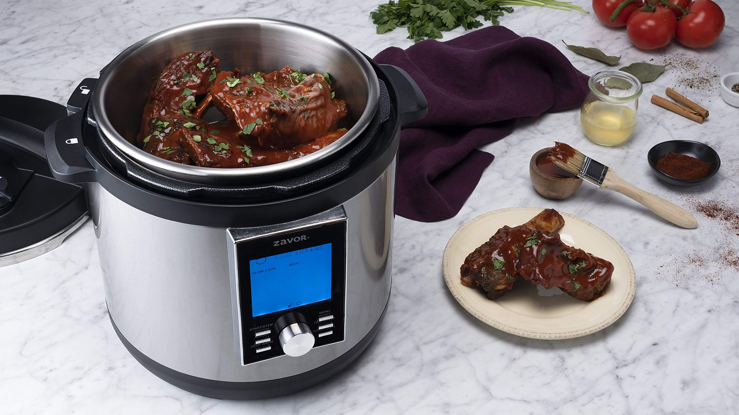 Zavor LUX LCD 8 Quart Programmable Electric Multi-Cooker: Pressure Cooker, Slow Cooker, Rice Cooker, Yogurt Maker, Steamer and more - Stainless Steel (ZSELL03) by ZAVOR (Image #8)