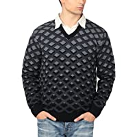 aarbee Men's V-neck Long Sleeve Regular Fit Sweater