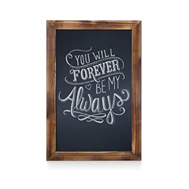 HBCY Creations Rustic Torched Wood Magnetic Wall Chalkboard, Extra Large Size 20  x 30 , Framed Decorative Chalkboard - Great for Kitchen Decor, Weddings, Restaurant Menus and More! … (20  x 30 )…