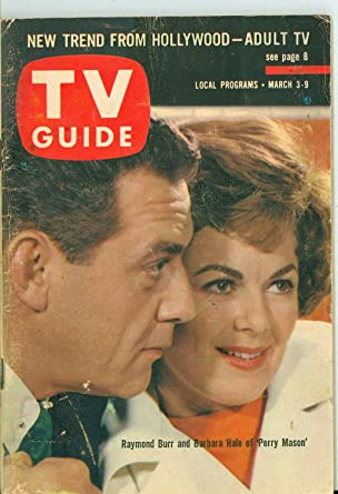 1962 Tv Guide Mar 3 Raymond Burr And Barbara Hale Of Perry Mason