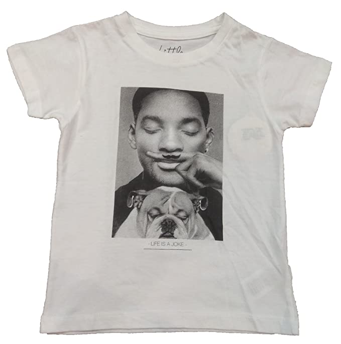 Eleven Paris Camiseta de Manga Corta Will Smith, Niña, Blanco, 6 Años