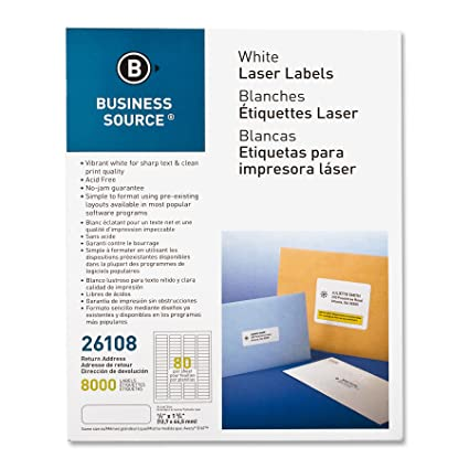 Amazon.com : Business Source Laser Return Address Labels ...