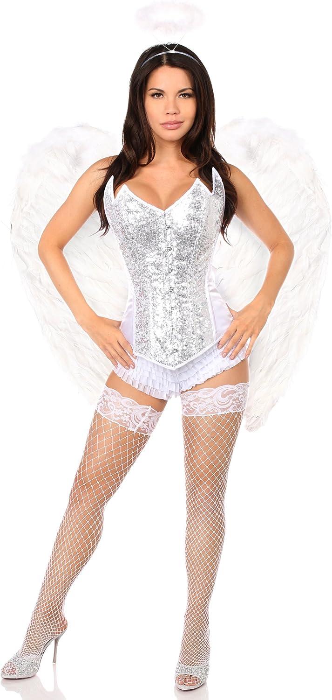 Daisy Corsets Women's Top Drawer 4 Pc Sweet Angel Corset Costume