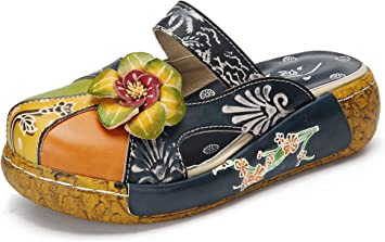 Women/'s a Punta Piatta Sandali PU Pelle Pantofole Scarpe Fashion Mule dimensioni #