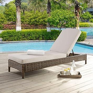 Crosley Furniture Bradenton Chaise Lounge With Cushions